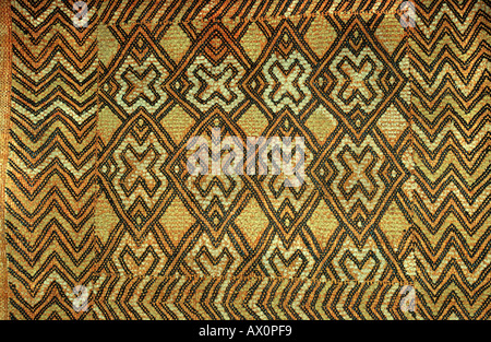 Woven raffia textile from The Democratic Republic of Congo DRC formerly known as Zaire From the Kuba tribe - Stock Photo