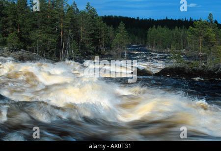 rapids in the river Vanan, Sweden, Dalarna - Stock Photo