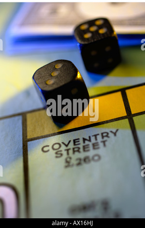 Monopoly Board Game, close up - Stock Photo