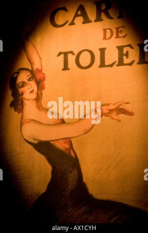 Poster, Museo del baile flamenco Sevilla, interactiv museum about flamenco music, Andalucia, Spain - Stock Photo