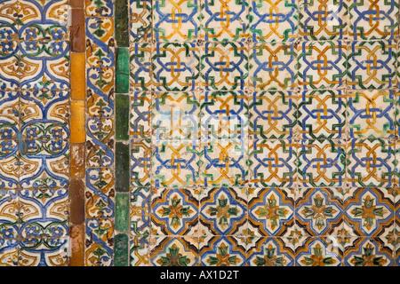 Casa de Pilatos, Casa Ducal de Medinaceli, courtyard, Patio, Palace House, tiles, Sevilla, Andalucia, Spain - Stock Photo