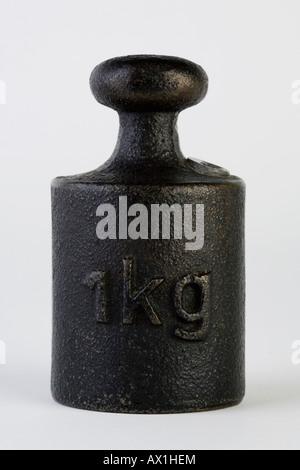 One kilogram weight - Stock Photo