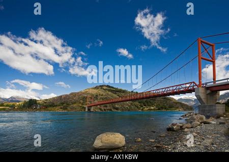 Bridge Punte Gral Lago General Carrera, Patagonia, Chile, South America - Stock Photo