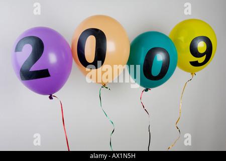 Balloons celebrating 2009 - Stock Photo