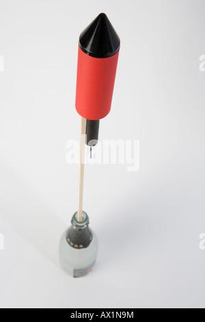 A rocket in a bottle - Stock Photo