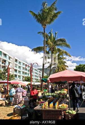 Market Day Saint-Denis, Réunion. - Stock Photo