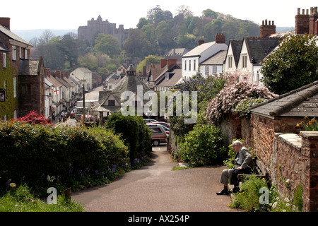 Somerset Dunster High Street and the Castle