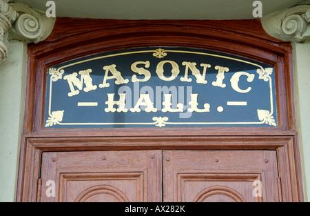 Exterior of Masonic Hall in Newport South Wales UK EU - Stock Photo