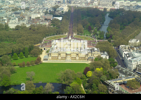 aerial view of Buckingham Palace Gardens, London SW1 Stock Photo ...
