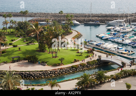 Heart shaped island, Anfi del Mar timeshare resort on Gran Canaria in the Canary islandse - Stock Photo