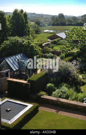 THE GARDEN AT MANOR FARM SOMERSET BY GARDEN DESIGNER SIMON JOHNSON UK - Stock Photo