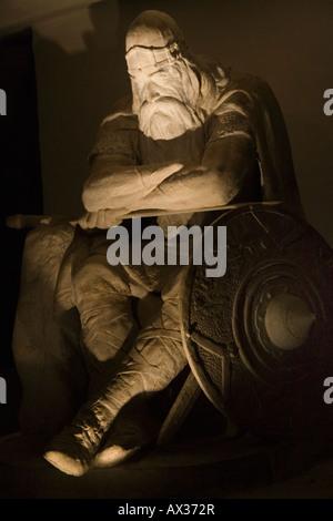 Kronborg - The historical statue of Ogier the Dane. Elsingore or Helsingør. Denmark - Stock Photo
