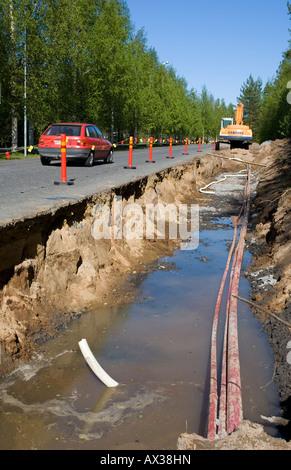 Roadworks at summertime , Finland