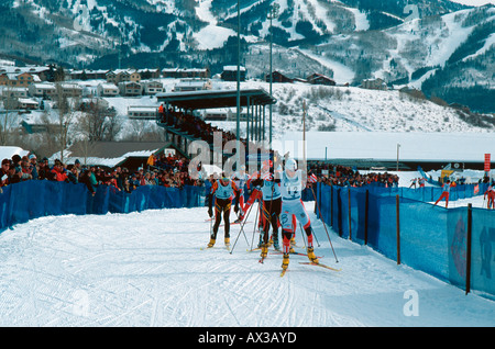 World Cup Nordic Combined competition Steamboat Springs CO USA - Stock Photo