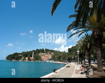 Seafront in Cavtat, Dubrovnik Riviera, Dalmatian Coast, Croatia - Stock Photo