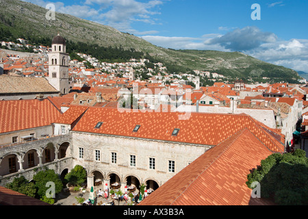 View of the old town from the City Walls, Dubrovnik, Dalmatian Coast, Croatia - Stock Photo