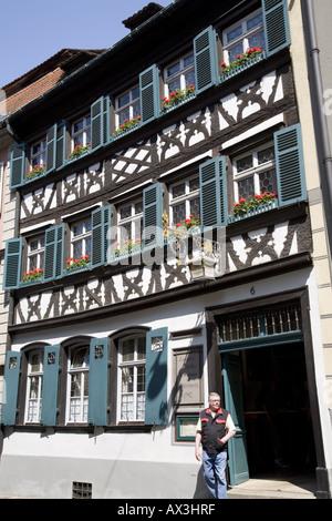 Wirtshaus zum Schlenkerla Restaurant, Bamberg Germany - Stock Photo