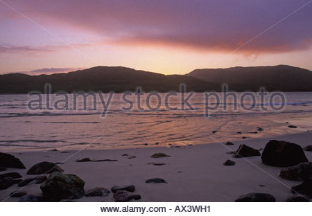 scenery of Huisinis on the Isle of Harris Scotland - Stock Photo