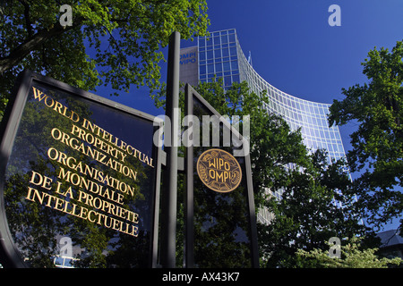 World Intellectual Property Organisation Headquarters, Geneva, Switzerland - Stock Photo
