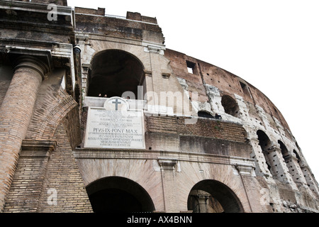 View of the Colosseum from the Via dei Fori Imperiali - Stock Photo