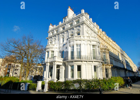 Notting Hill apartments Ladbroke Grove West London w11 United Kingdom - Stock Photo