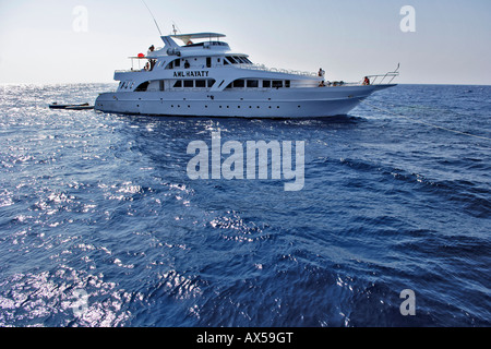 Tourist diving ship Aml Hayaty, dive excursions, Red Sea, Egypt - Stock Photo