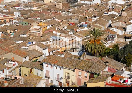 View over Xàtiva (Játiva), Valencia, Spain, Europe - Stock Photo