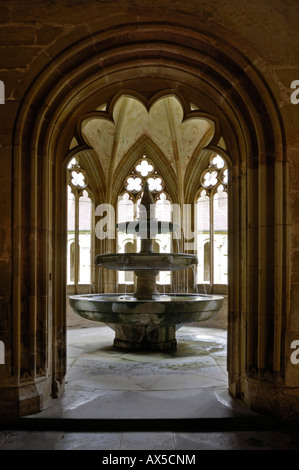Fountain at the Cistercian monastery in Maulbronn, Baden-Wuerttemberg, Germany, Europe