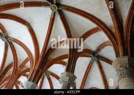 Vaulted ceiling of the Cistercian monastery in Maulbronn, Baden-Wuerttemberg, Germany, Europe