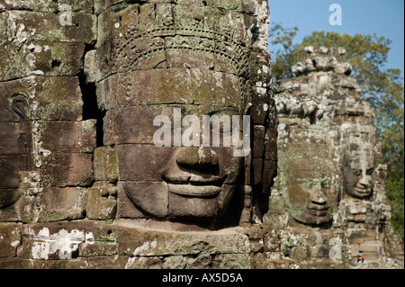 Angkor Thom City of Thousand Faces Temples of Angkor Siem Reap Cambodia Asia - Stock Photo