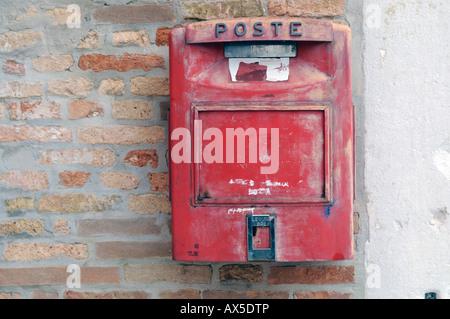 Mailbox, Burano Island, Venice, Veneto, Italy, Europe - Stock Photo