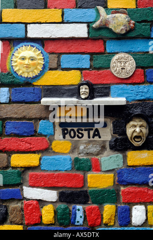Facade, Burano Island, Venice, Veneto, Italy, Europe - Stock Photo
