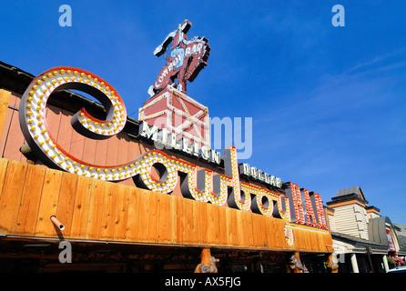 Cowboy Saloon, Jackson, Wyoming, USA, North America - Stock Photo
