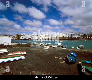 Charco San Ginés, old fishing port, Arrecife, Lanzarote, Canary Islands, Atlantic Ocean, Spain, Europe - Stock Photo