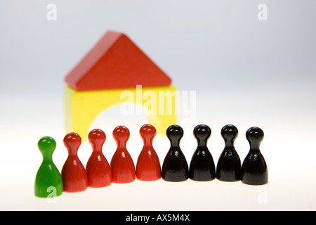 Red-black-green coalition in the German parliament (Bundestag, Landtag) - Stock Photo