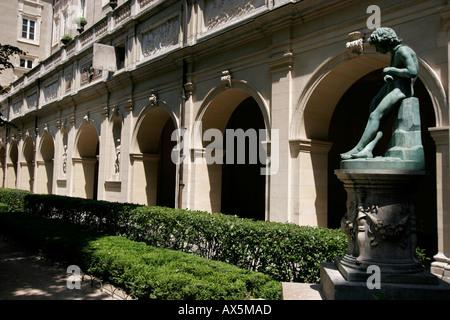 The graden of Museum of Fine Arts in Lyon. Rhone. France - Stock Photo