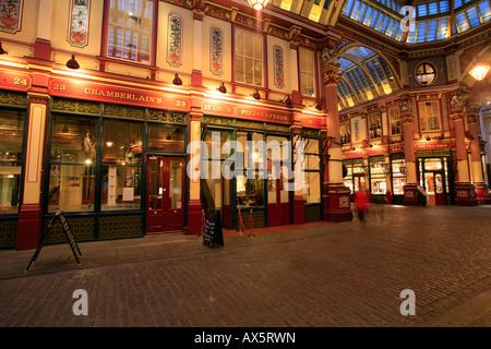 Interior view, Leadenhall Market, London, England, UK, Europe - Stock Photo