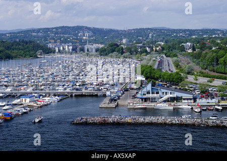 Marina in Oslo, Norway, Scandinavia, Europe - Stock Photo