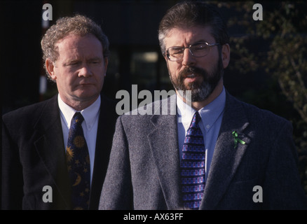 Gerry Adams Martin McGuinness in press conference,Belfast,N.Ireland, 05/ 07 /2004 - Stock Photo