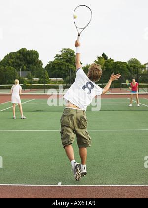People playing tennis - Stock Photo