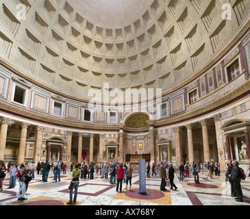 Interior of the Pantheon, Piazza della Rotonda, Historic Centre, Rome, Italy - Stock Photo