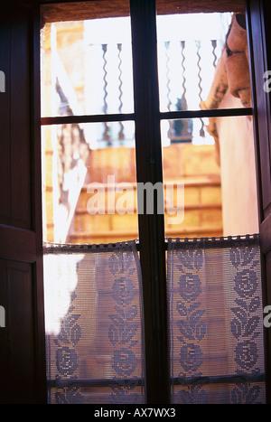 Blick aus dem Fenster, Finca-Hotel de Reis, Soller Mallorca, Spanien - Stock Photo