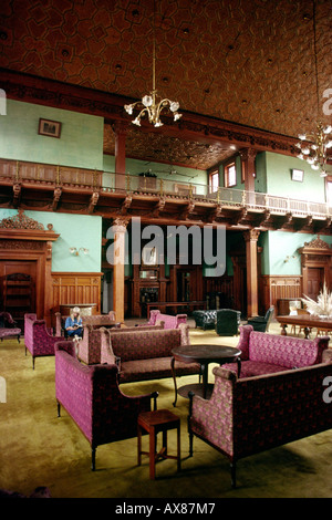 India Tamil Nadu Ootacamund Fernhill Palace Hotel ballroom - Stock Photo