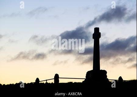 Memorial for the Battle of Flodden Field, near Branxton, Northumberland, England - Stock Photo