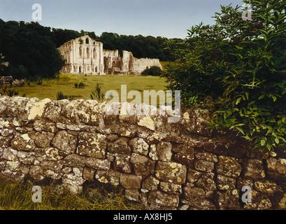 E. George, Gott schuetze dieses Haus, Rievaulx Abbey Yorkshire, Great Britain - Stock Photo