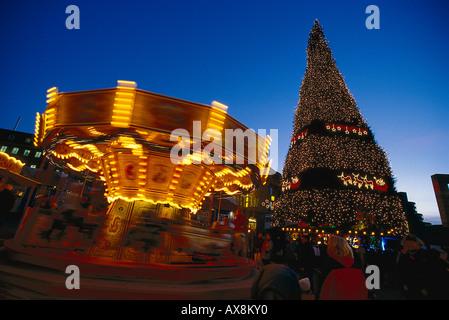 Weihnachtsmarkt, Dortmund, Nordrhein-Westfalen Deutschland - Stock Photo