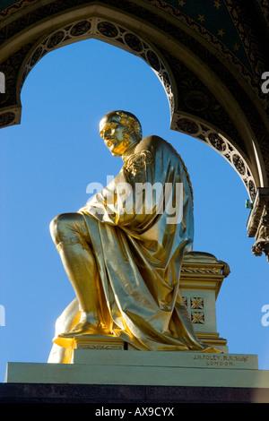 The Albert Memorial, Kensington, London, UK - Stock Photo