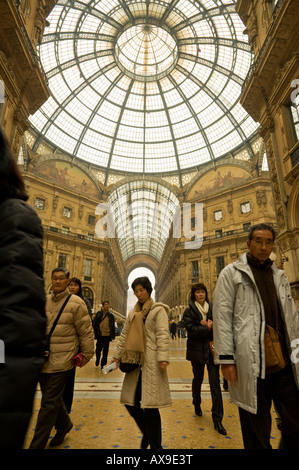 THE GLASS CEILING OF GALLERIA VITTORIO EMANUELE MILAN ITALY - Stock Photo