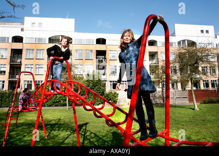 Almere town polder has been chosen as the most ugly city of The netherlands Although its modern architecture and - Stock Photo