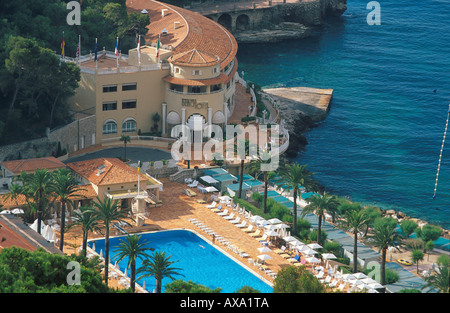 Monte Carlo Beach Hotel, Pool, Cote d´Azur, Monaco Europa - Stock Photo